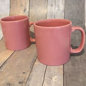 Other - Pink Coffee Mugs Made In England Mint